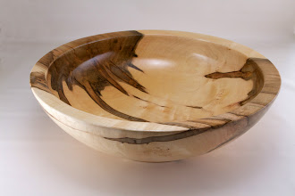 "Photo: Clif Poodry 14 1/2"" Cored bowl from May 2013 demo [ambrosia maple]"