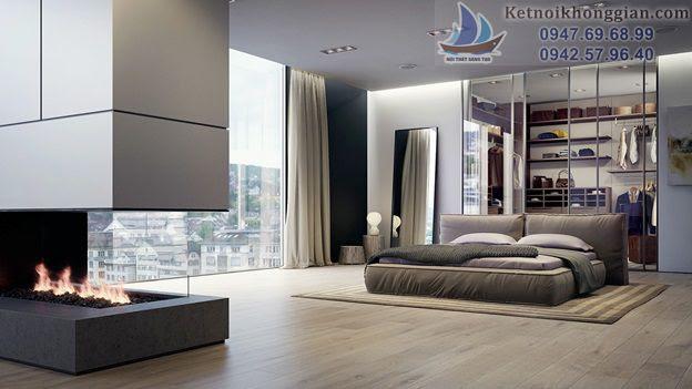 thiết kế tủ áo trong phòng ngủ