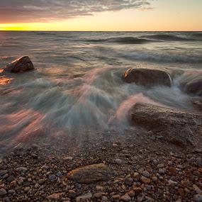 Poty by Carl Chalupa - Landscapes Waterscapes ( lake ontario )