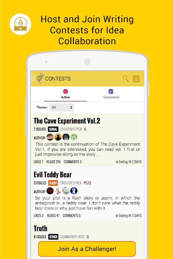 Penana-Your Mobile Fiction App- screenshot