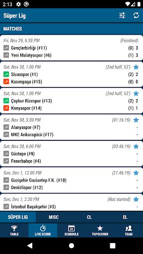 Live Score - Football Turkey 2.154.0 screenshots 2