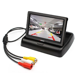 Monitor LCD pliabil de 4.3 inch + Suport numar auto camera video