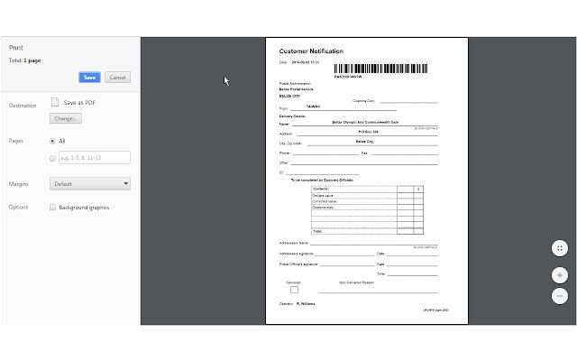 HTML5 PDF Printing in Chrome
