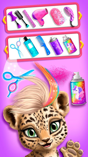 Jungle Animal Hair Salon - Styling Game for Kids android2mod screenshots 3