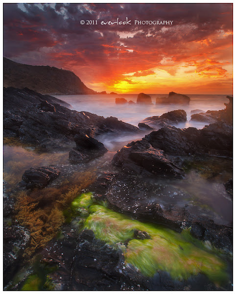 Photo: Christmas Dawn was spectacular from Petrel Cove looking toward The Bluff near Victor Harbor. There was not a soul in sight at 5am.
