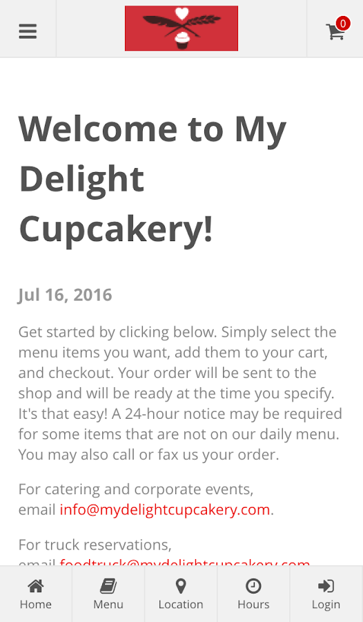 My Delight Cupcakery- screenshot