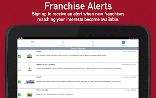 Screenshot of Franchises to Buy