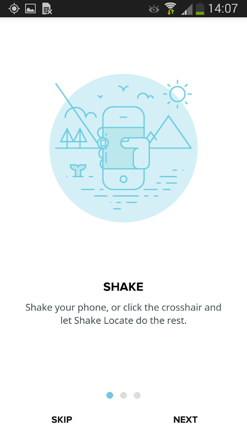 Shake Locate Powered By Google- screenshot