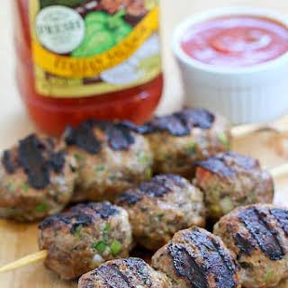 Skewered Italian Meatballs.