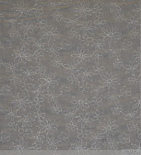 "Photo: <> STYLE# CLE-DAISY WHT <> WIDTH 54"" <> 100% COTTON FOIL EMB. <> PRICE $7.45/YRD <>"