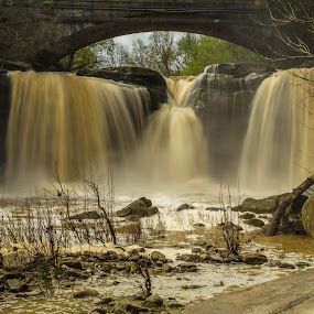 Ohio Waterfall by Donna Sparks - Landscapes Waterscapes ( color, waterfall, city,  )