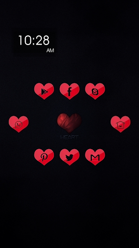 Small and Red Heart Theme