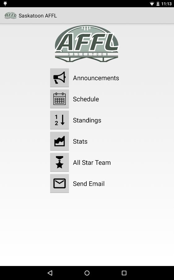 Saskatoon AFFL - screenshot
