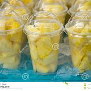 Fresh Pineapple Cup