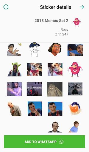 Meme Stickers for WhatsApp 4.0.0 screenshots 7