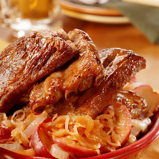 Oktoberfest Ribs with Apple Sauerkraut Recipe