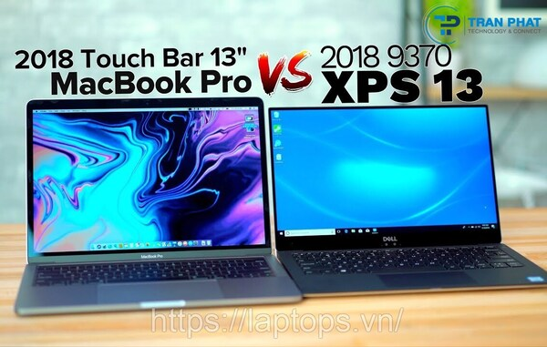 so sánh dell xps 13 9370 vs macbook pro 13