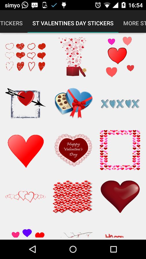 valentines day photo stickers screenshot - Valentines Day Stickers