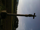 Photo: Old Camino with Pilgrim crosses every kilometre or so