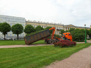 Photo: This was  a very large park.  You can see the amount of grass clippings that were taken away by this truck.
