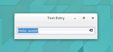 Numeric and Text Data Entry | Introduction to GTK+