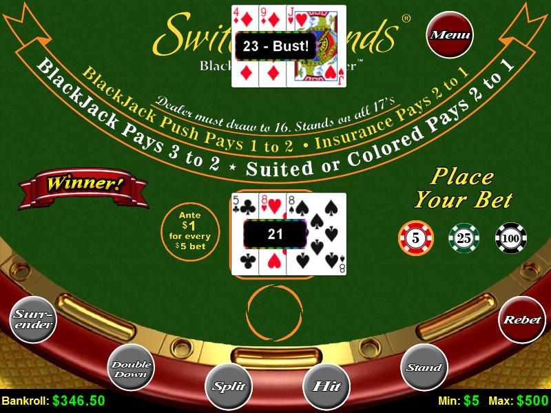 Blackjack Switch – Play Free Blackjack Switch Online