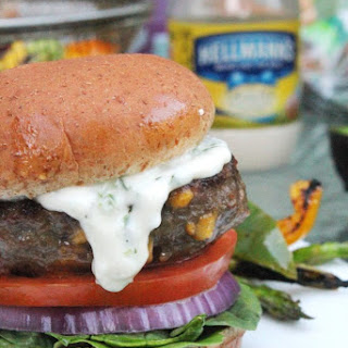BACON CHEDDAR BURGER with JALAPENO AIOLI Recipe