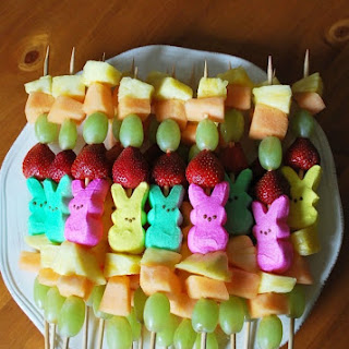 Peep Fruit Kabobs.
