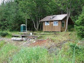 Photo: A cabin at Point Bridget.