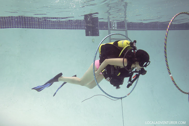 Padi Scuba Diving Lessons at Oceanside Scuba and Swim Center.