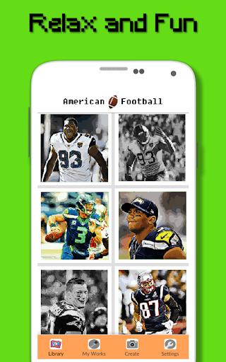 American Football Player Color By Number - Pixel apktram screenshots 5