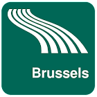 Brussels Map offline icon