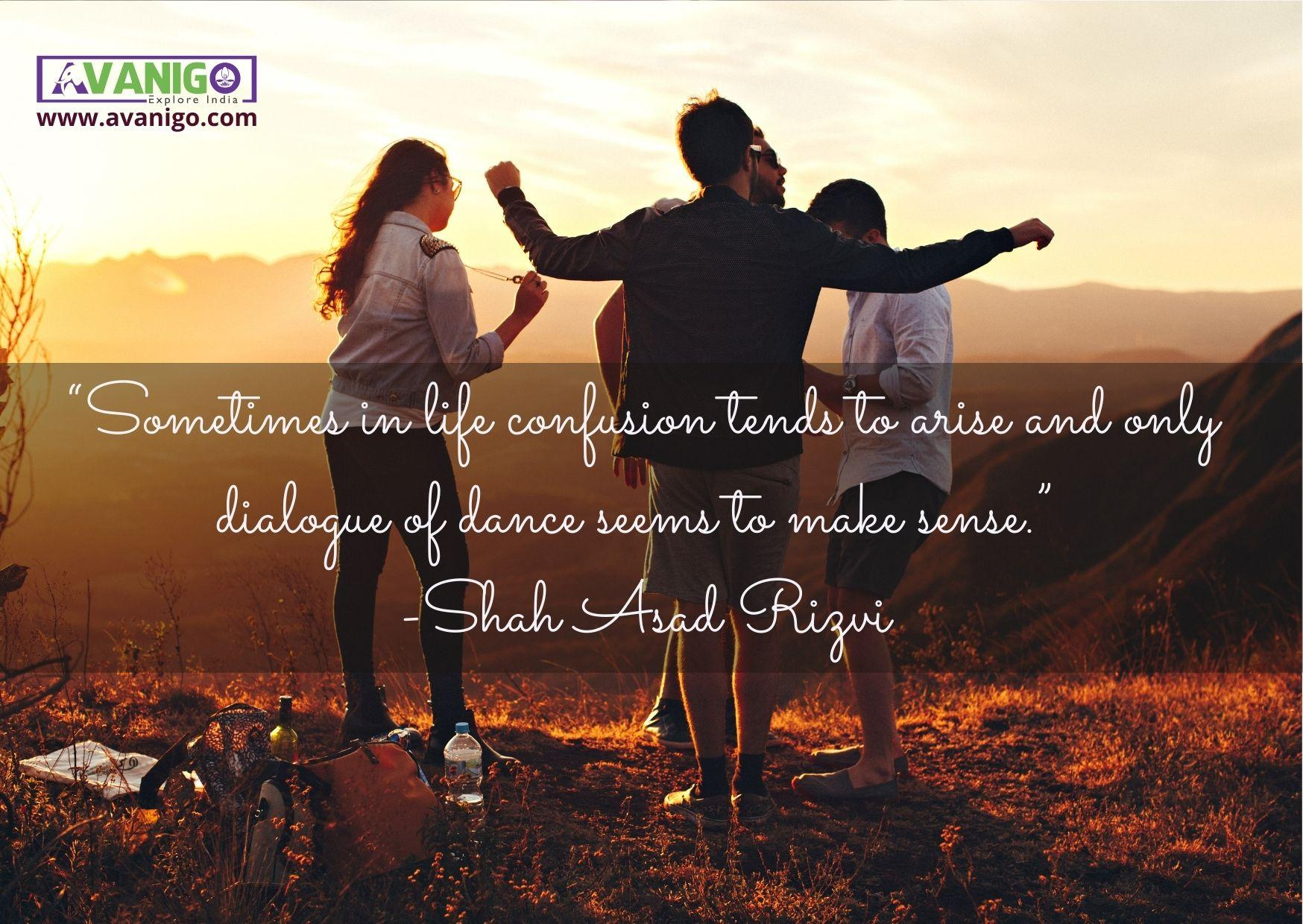 Sometimes in life confusion tends to arise and only dialogue of dance seems to make sense.