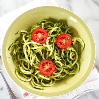 Zucchini Noodle Pesto Pasta Recipe