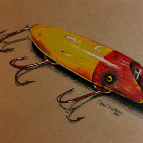 Antique Crank Bait by Dave Feldkamp - Drawing All Drawing (  )