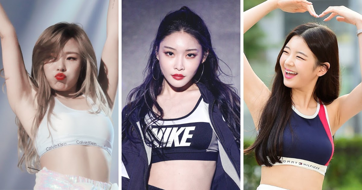 8 Female Idols Who Turned Sports Bras Into A Fashion Statement Koreaboo