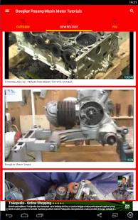 Bongkar Pasang Mesin Motor Tutorials - náhled