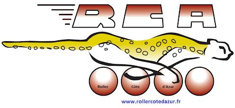 """Photo: Le logo finalement sélectionné : dessin original de Louis création numérique de Valérie ajout """"Roller"""" """"Côte"""" """"d'Azur"""" et www.rollercotedazur.fr par Charles"""