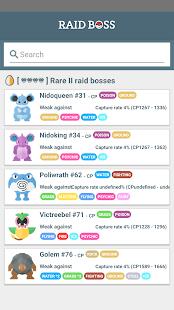Raid Boss - Tier list and counters for Pokémon GO - náhled