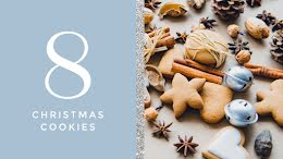 Eight Christmas Cookies - Winter Holiday item