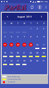 Period Calendar - náhled