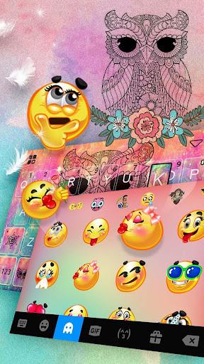 Colorful Owl Keyboard Theme screenshot