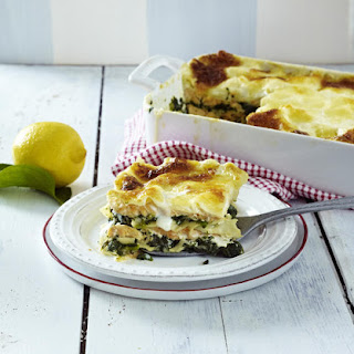 Salmon and Spinach Lasagne.