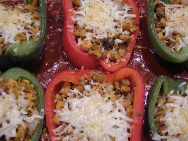 Saucy Veggie Holiday Stuffed Peppers