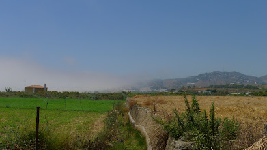 Photo: Sea mist rolls into the bay east of Nerja