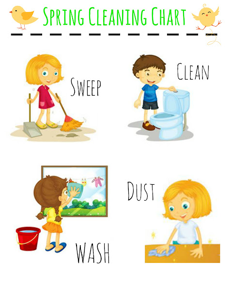 Printable Spring Cleaning Chart for Preschoolers