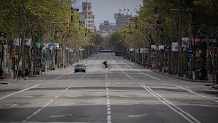 Imagen de archivo del confinamiento de primavera en una ciudad de España.