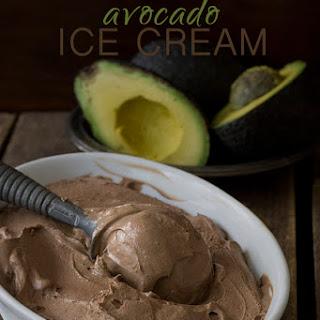 Mexican Chocolate Avocado Ice Cream.