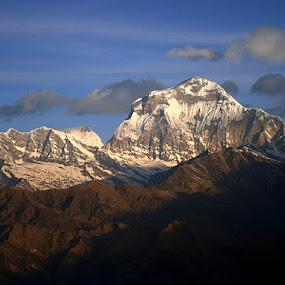 Mountain and Hills by Ashish Bikram Thapa - Landscapes Mountains & Hills ( snow., hills, mountain, trees, shadows )