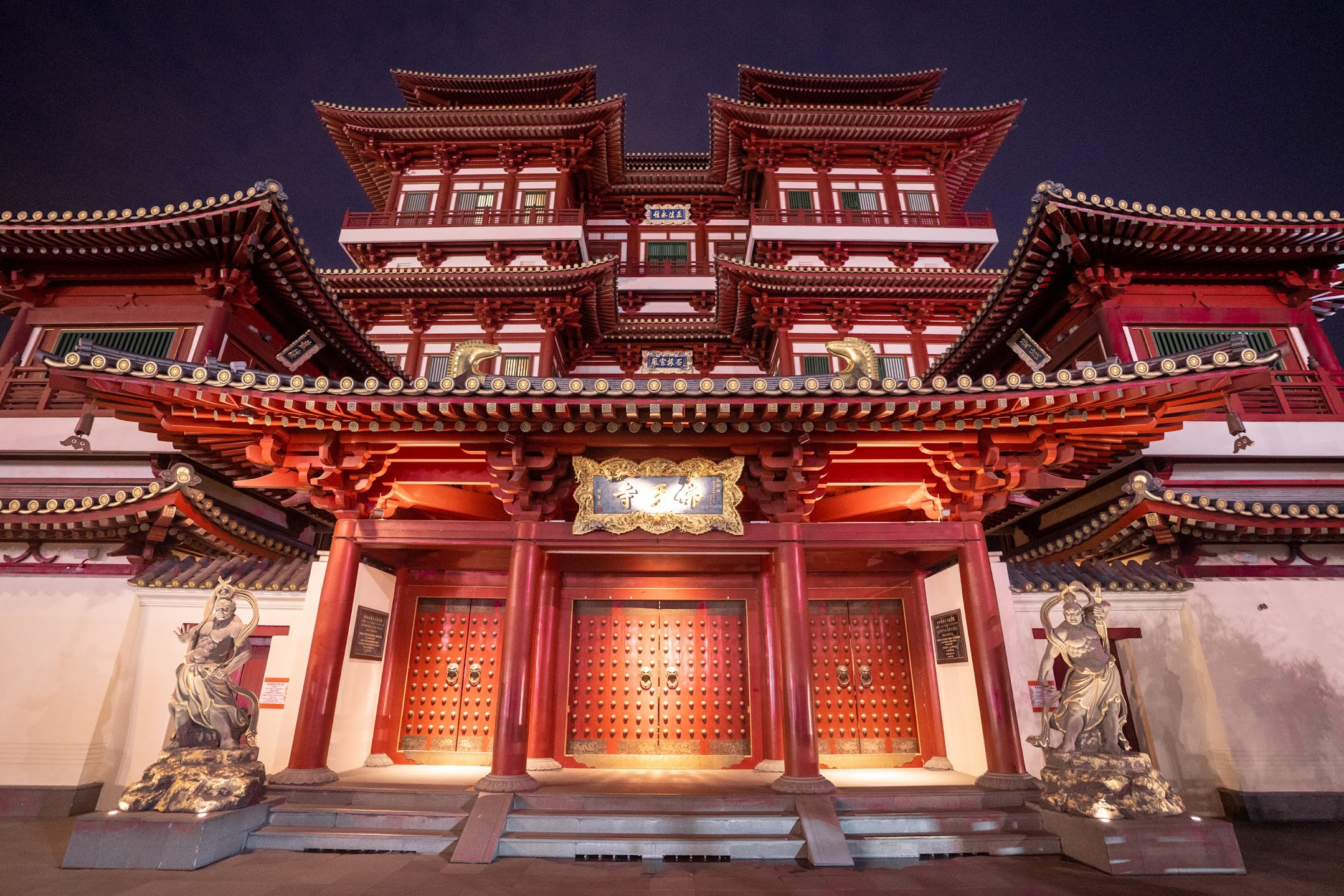 シンガポール チャイナタウン 新加坡佛牙寺龍牙院 (Buddha Tooth Relic Temple and MuseumBuddha Tooth Relic Temple and Museum) 夜2